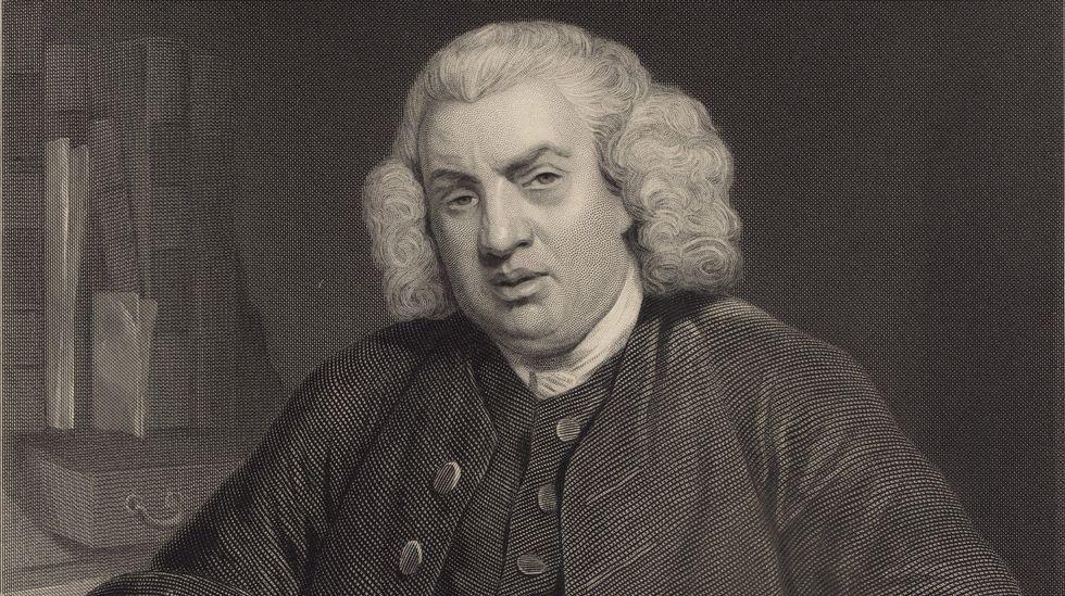 Solo cuatro ejemplos.Retrato de Samuel Johnson realizado por el pintor estadounidense Alonzo Chappel a partir de un lienzo de sir Joshua Reynolds. Johnson es uno de los personajes abordados por Marc Fumaroli.