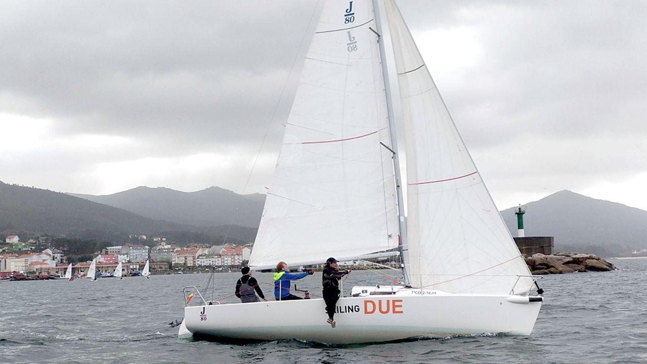 Segunda etapa de la Regata Rías Baixas, a su llegada a A Pobra, en el 2011