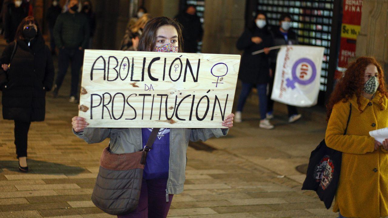 Protesta en Vilagarcía