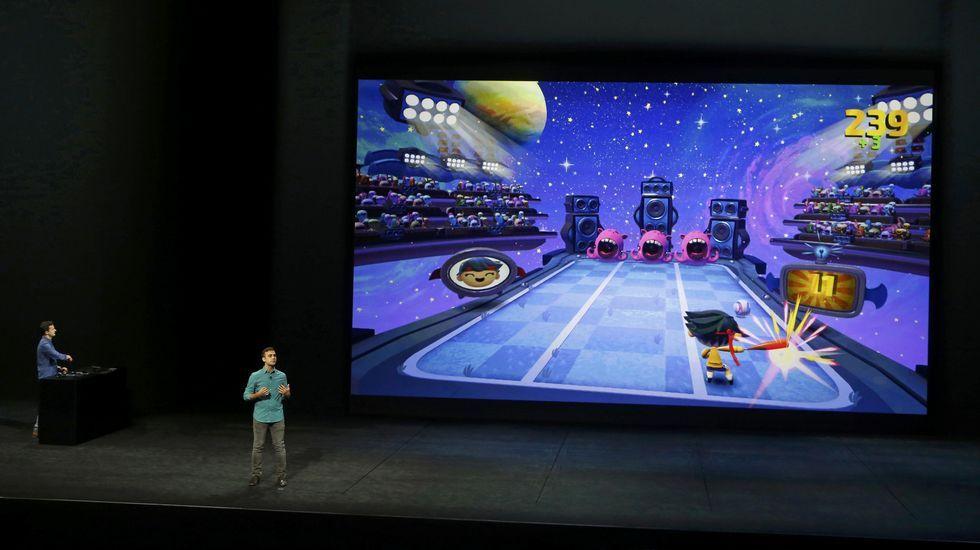 Dentro de Apple TV, la compañía presentó una gama de juegos interactivos.