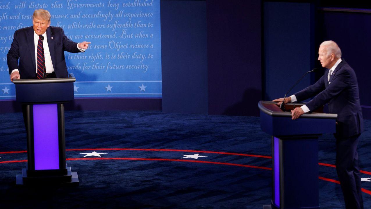Trump, tras desembarcar del Marine One y viajar en el Air Force One a Nashville para su segundo y último debate con Biden