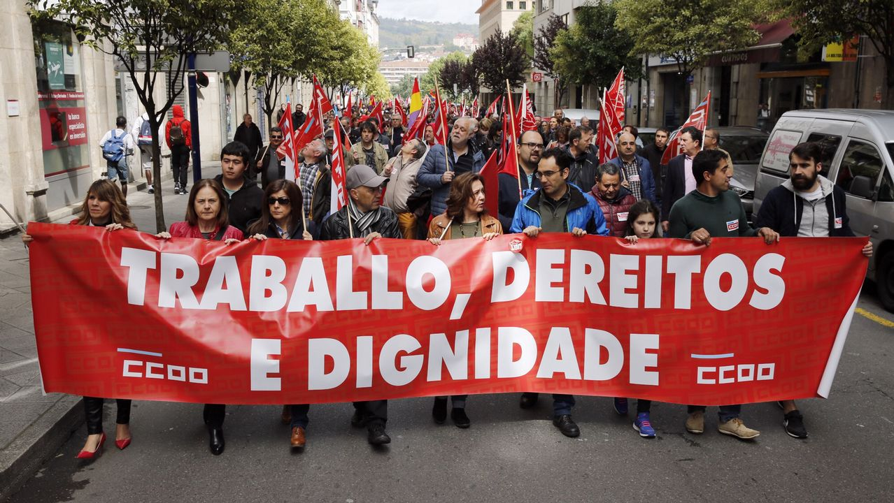 Manifestación del 1.º de Mayo en Ferrol