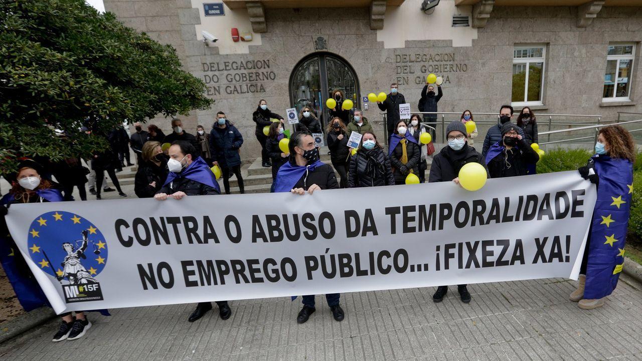 La Ciudad de la Justicia de Vigo, cada día más cerca.El colectivo ya se manifestó en enero ante la Delegación del Gobierno en Galicia