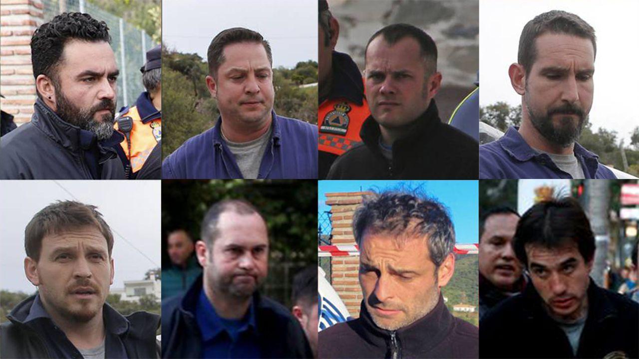 Estos son los 8 mineros encargados de rescatar a Julen.Olas en Llanes (Asturias)
