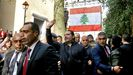 El exprimer ministro de Líbano Saad Hariri en un homenaje por el 15º aniversario del asesinato de su padre, también primer ministro del pais, Rafic Hariri