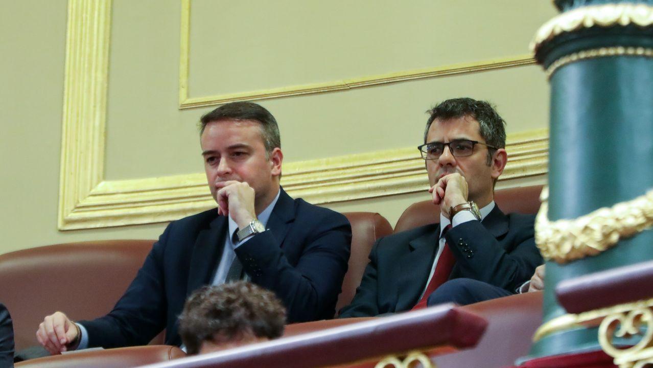 Iván Redondo, asesor de Sánchez, en la tribuna de invitados