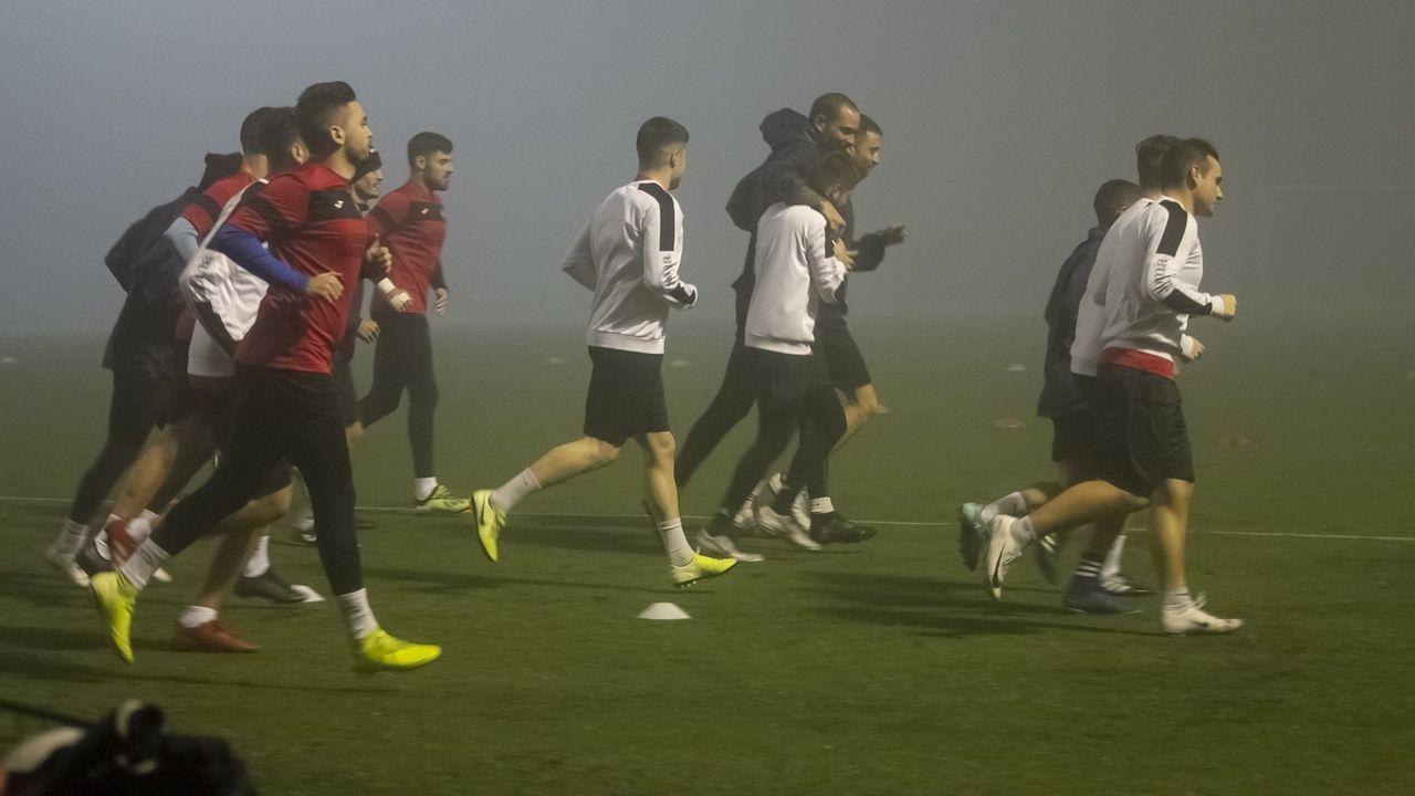 El Boiro, durante uno de los entrenamientos de esta temporada
