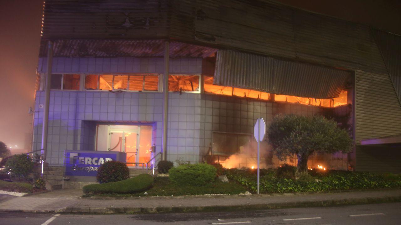 Incendio en un edificio de la calle Uría, Oviedo