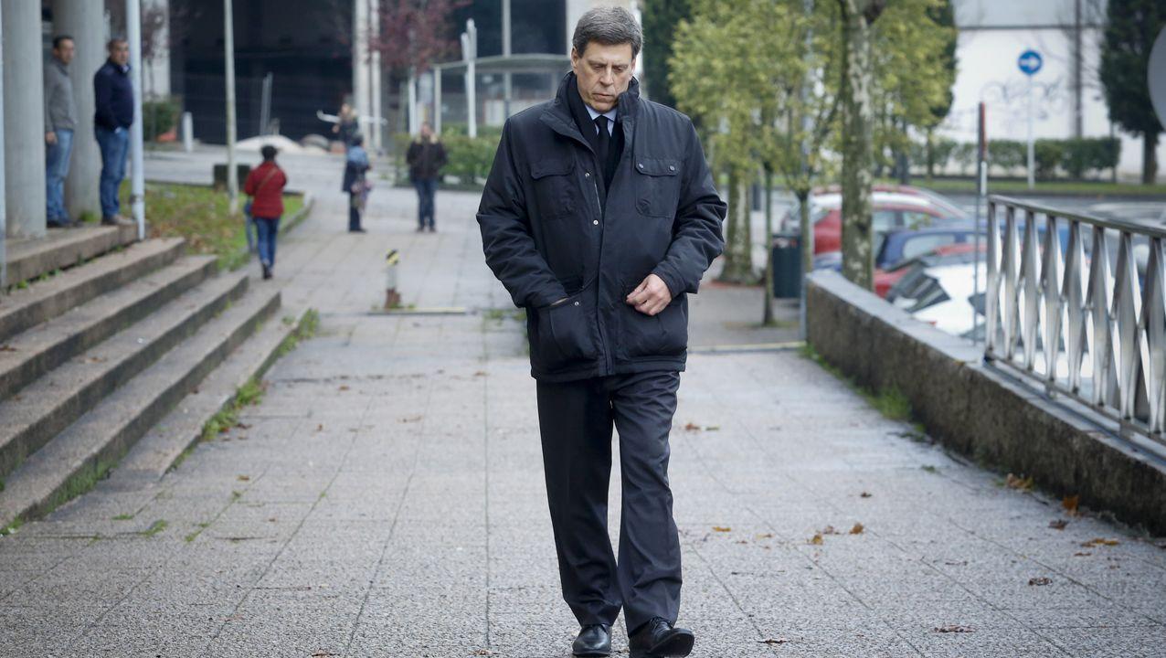 Juan Carlos Quer a la llegada de la quinta jornada del juicio