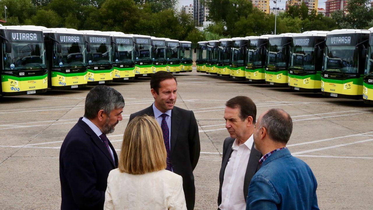 Presentación de la nueva flota de autobuses de Vitrasa