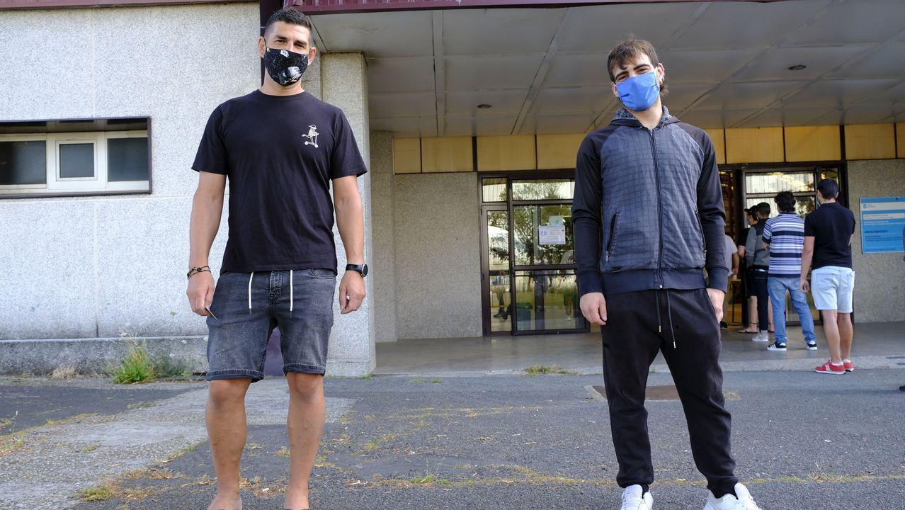 Miguel Quintanilla y Román Silvar se presentaron a los exámenes de Navantia