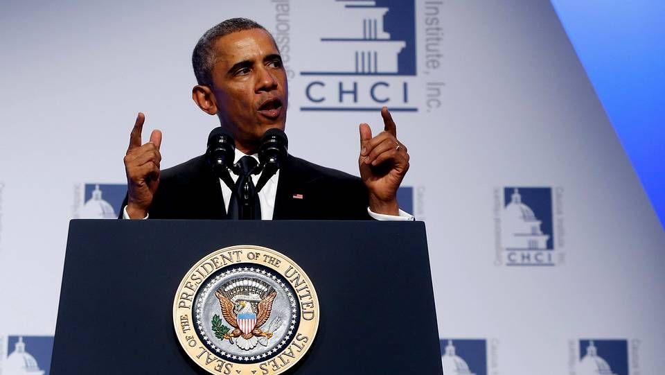 Obama durante el Congressional Hispanic Caucus