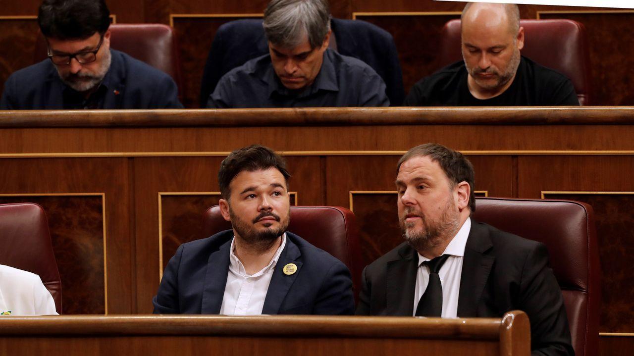 Oriol Junqueras, junto a Gabriel Rufián