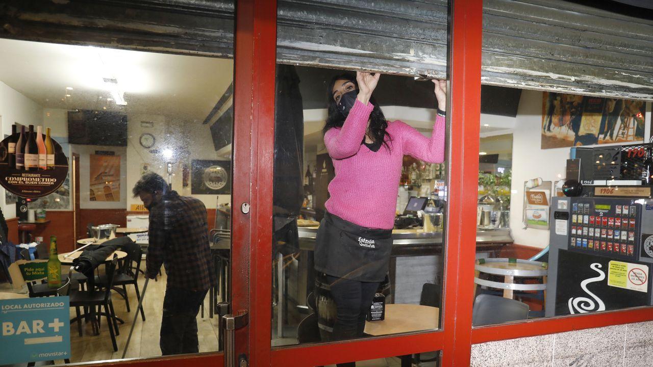 La hostelería baja la persiana en Vigo