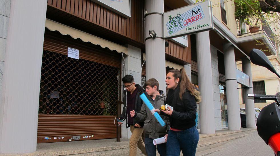 La floristería de la madre de Josep estaba ayer cerrada. Sandoval