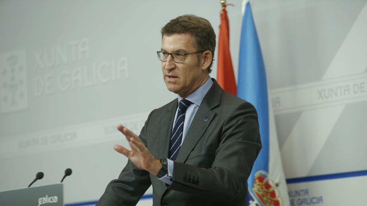 Adrián Barbón interviene en El Entrego, en un acto que conmemora el primera aniversario del encuentro de Pedro Sánchez con la militancia.González, Aznar y Zapatero son algunos de los propuestos para comparecer