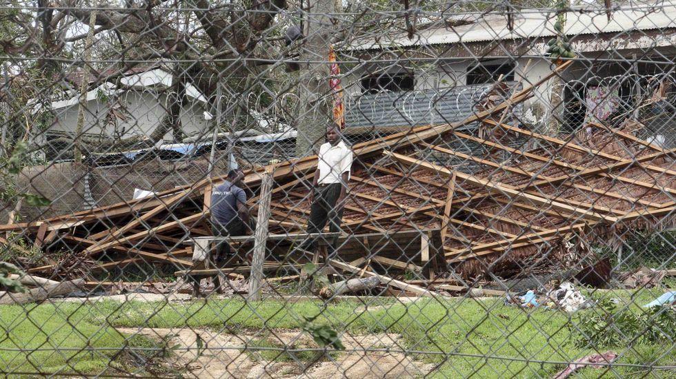 El ciclón tocó tierra con fuerza 5.