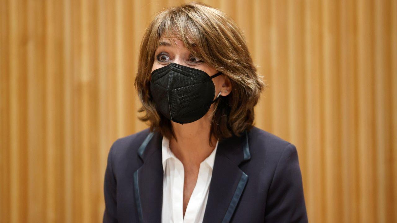 La fiscala general del Estado, Dolores Delgado, este martes, en el Congreso