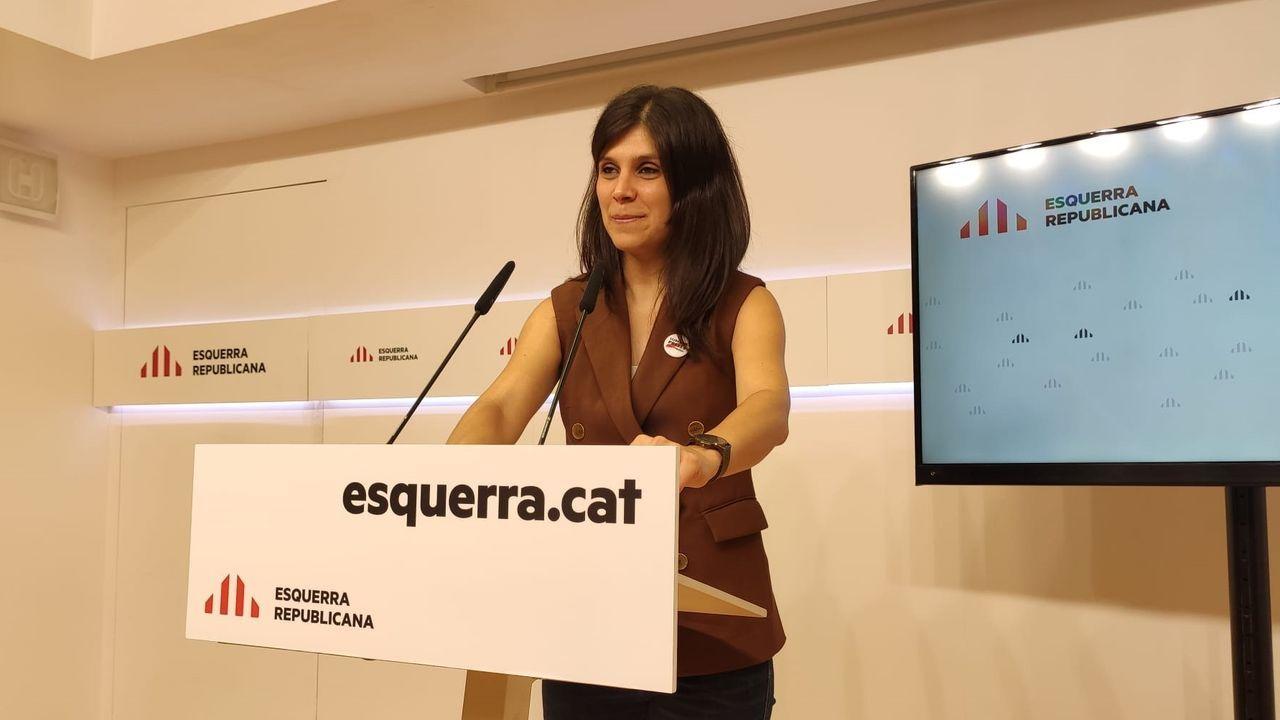 Marta Vilalta, de ERC, este lunes en rueda de prensa