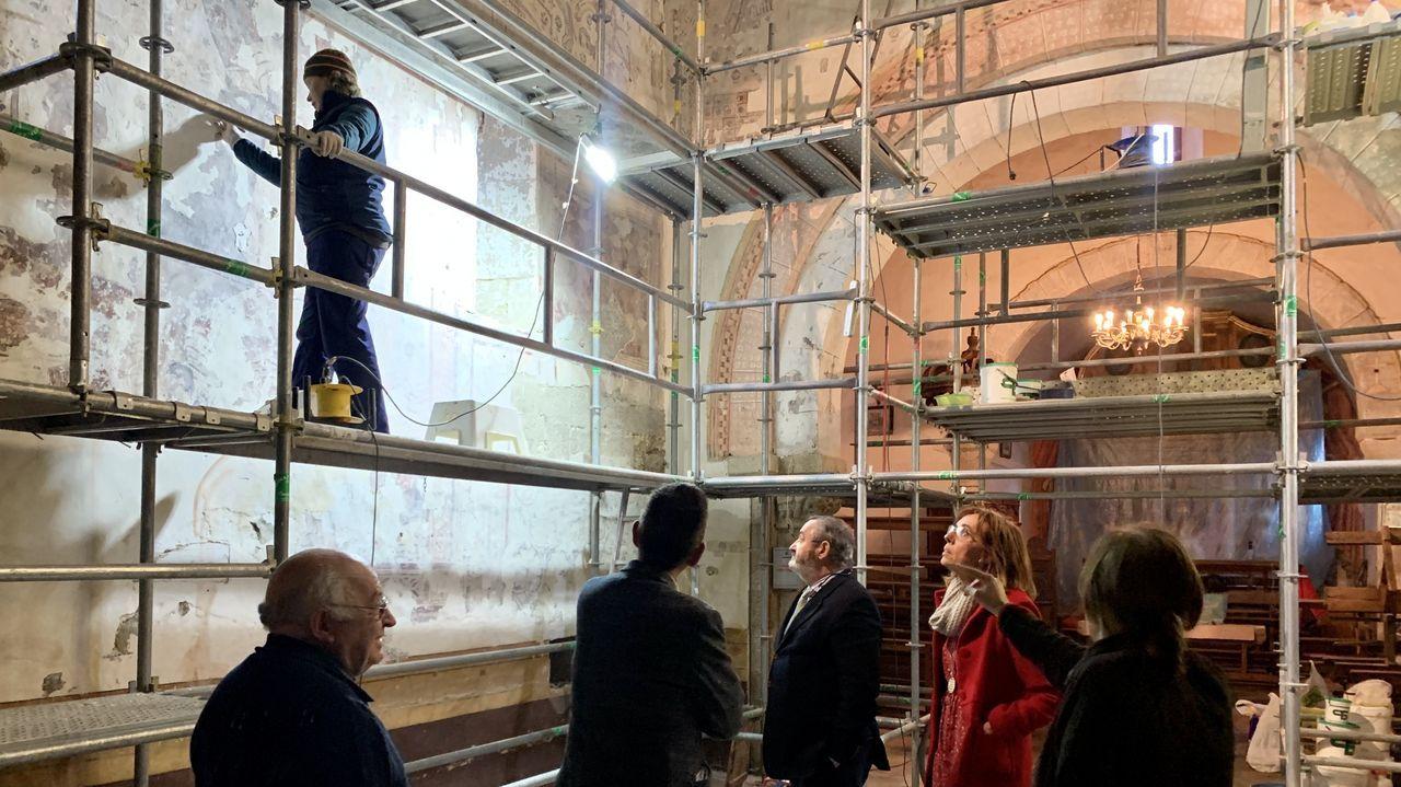 Este año terminó la restauración de los murales renacentistas de la iglesia de Pinol, en Sober