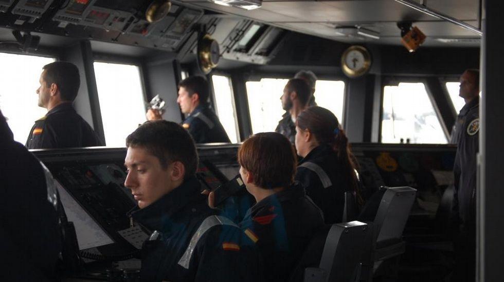 Llegada de la fragata Blas de Lezo a Ferrol.Actividad a bordo de la «Blas de Lezo»