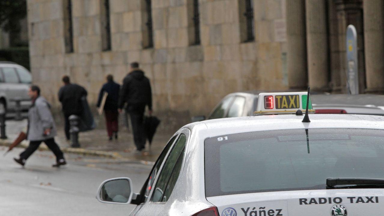 Imagen de archivo de un taxi en Santiago