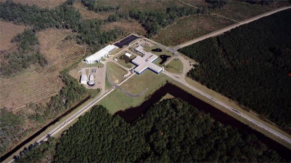 Observatorio  de ondas gravitacionales Ligo en Luisiana, en Estados Unidos.