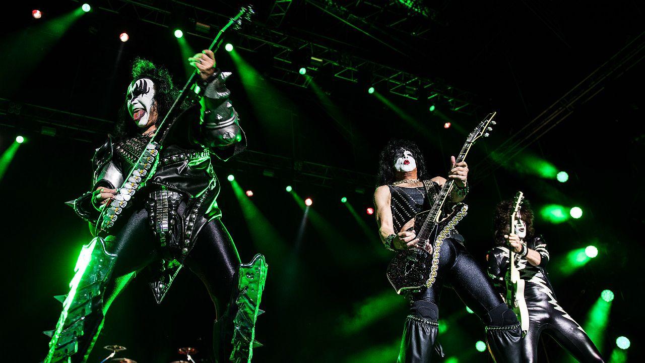 Concierto de la banda Kiss en el estádio municipal de Oeiras, en Portugal