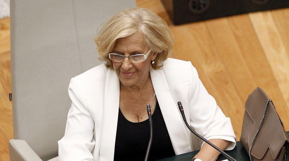 Carmnena, durante su investidura ayer como alcaldesa.