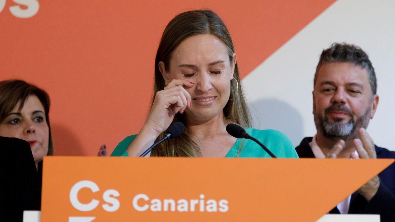 Las lágrimas de Melisa Rodríguez, candidata de Ciudadanos por Santa Cruz de Tenerife