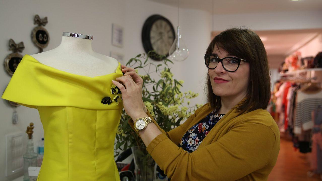 Sandra Ferro es propietaria de la boutique Le Carrousel, en Ourense, y preside la Asociación Comercio Vivo