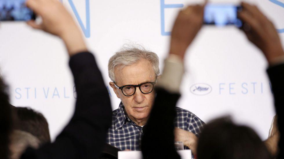 Woody Allen durante la rueda de prensa de su película