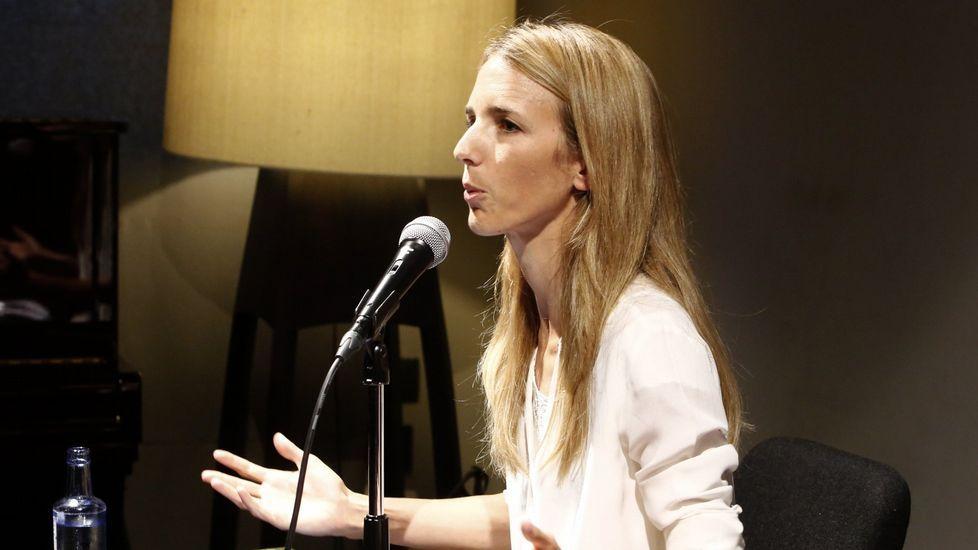 La diputada Cayetana Álvarez de Toledo, en una conferencia en Ourense