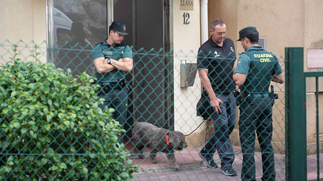 Marley, durante la investigación en Castro Urdiales