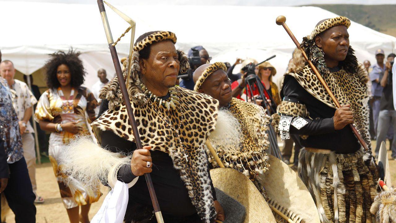 Goodwill Zwelithini, monarca de la comunidad zulú, la etnia más numerosa de Sudáfrica