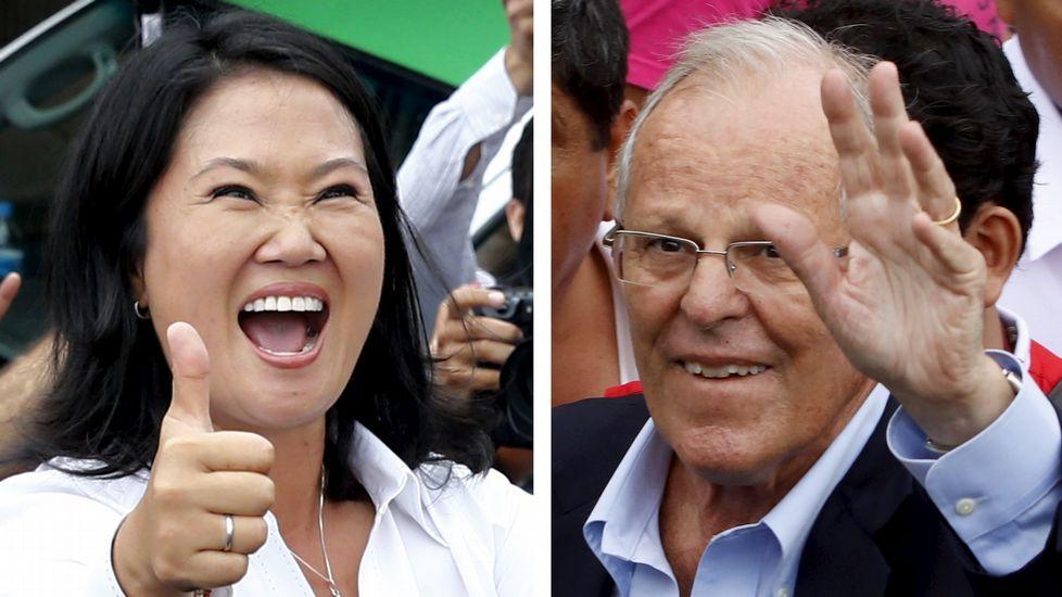 Fujimori pide perdón en un vídeo a los «compatriotas defraudados».Los dos candidatos a las elecciones peruanas, Keiko Fujimori y Pedro Pablo Kuczynski