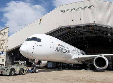 Radar.Ensayos del nuevo Airbus A-350 en el laboratorio climático de las fuerzas aéreas estadounidenses.