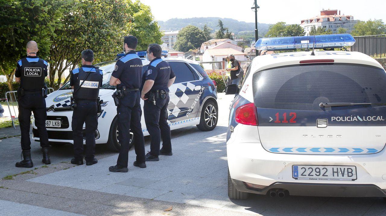 La Policía Local de Pontevedra, en una imagen de archivo, remitió las actuaciones a la Comisaría por si se interpone denuncia