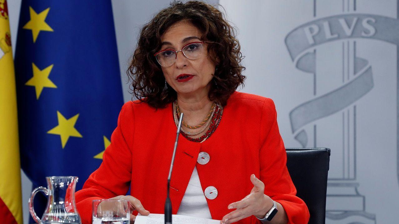 La ministra de Hacienda y portavoz del Gobierno, María Jesús Montero, tras el consejo de ministros