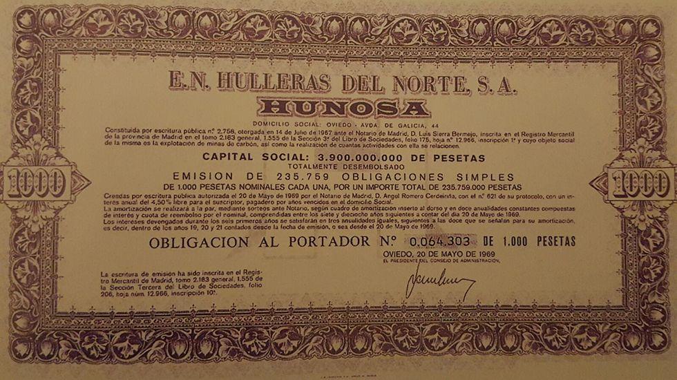 Acción de Hunosa de 1969