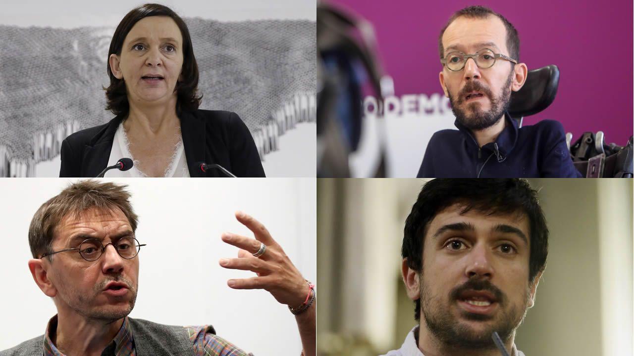 La lista de caídos en Podemos.La vicepresidenta del Gobierno, Carmen Calvo, durante la rueda de prensa posterior a la reunión del Consejo de Ministros