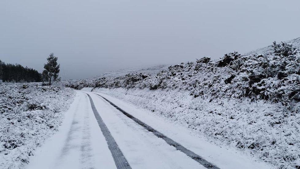 Nieve en Palas de Rei