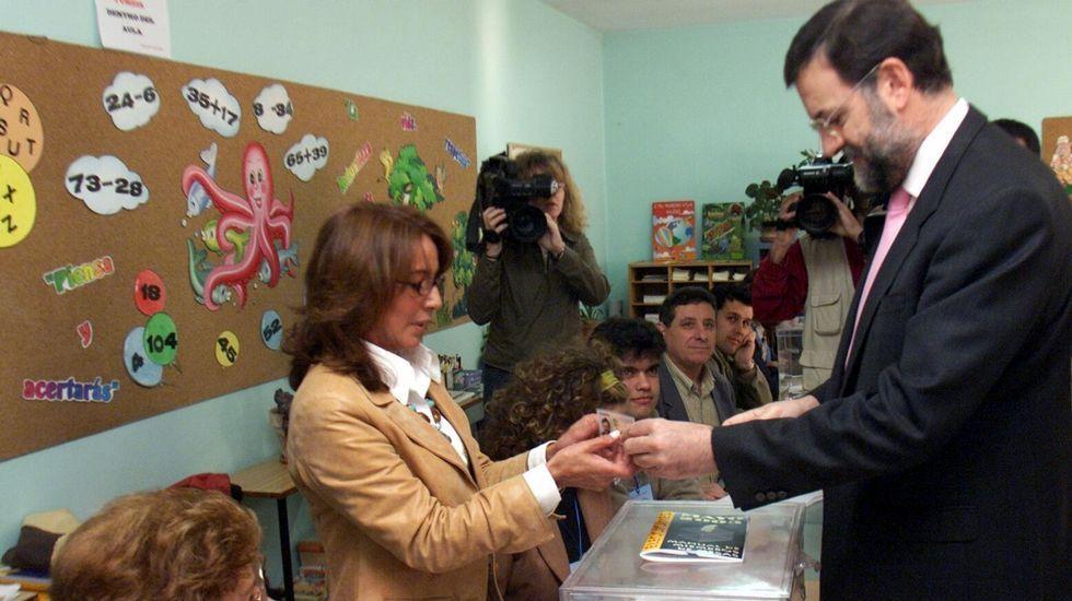 Rajoy pasea por Ourense en el cierre de campaña