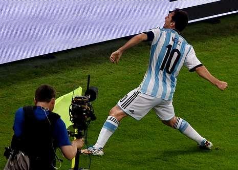 Messi solo había marcado un gol con Argentina en un Mundial, y había sido siete años atrás, en Alemania.
