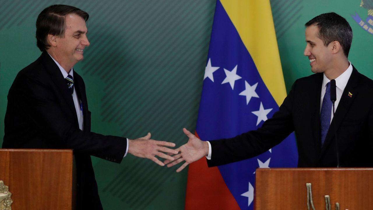 Bolsonaro es uno de los más firmes apoyos de Guaidó en su pulso con Maduro