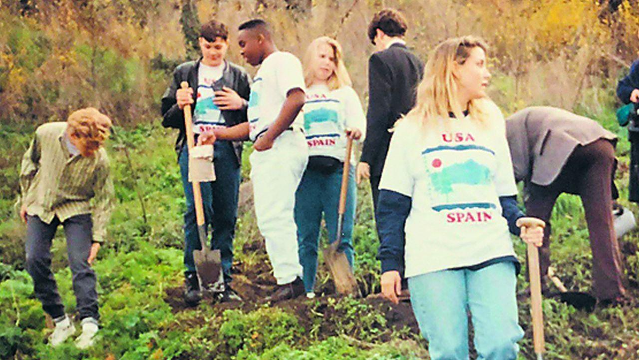 Voluntarios americanos en Galicia