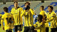 Marco Sangalli celebra su gol ante el Sabadell