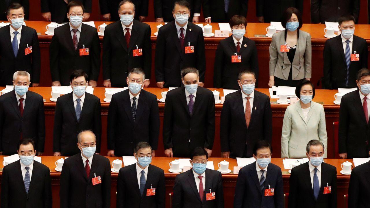 Imagen de la sesión de hoy del Congreso Nacional del Pueblo de China