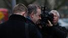 Salmond, a su llegada este martes al tribunal de Edimburgo
