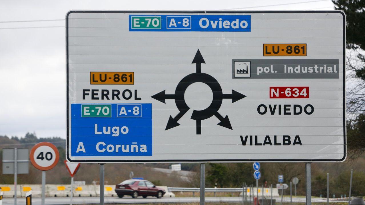 Corte de la A-8 en Cabreiros, por trabajadores de Alcoa